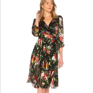 Alice and Olivia floral wrap dress